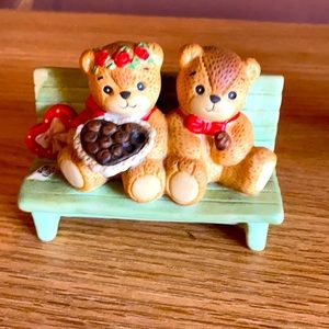Collectible porcelain teddy bears